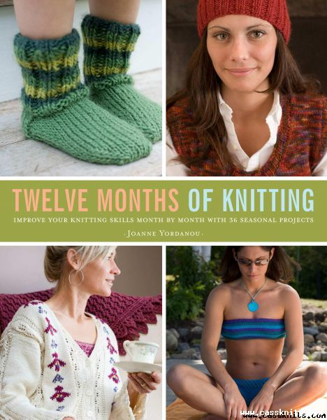 Twelve Months of Knitting cover