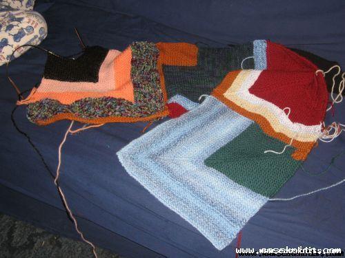 worsted scrap blanket